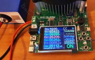 LiFePO4 аккумулятор под нагрузкой 10А, отдано 25А*ч