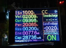 LiFePO4 аккумулятор под нагрузкой 10А, отдано 28,7А*ч