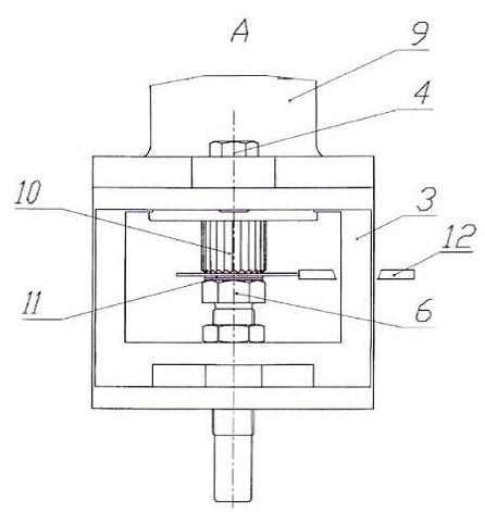 Схема установки устройства для регулировки зазора на нижнем основании секции ЭЦН