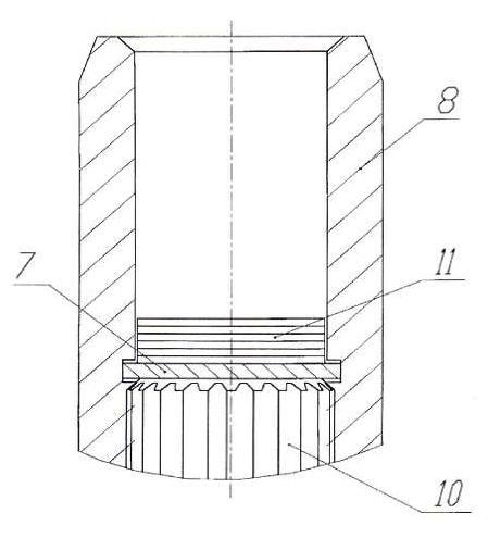 Установка пакета прокладок в муфту входного модуля