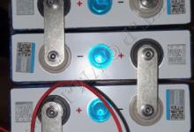 """Заряд четырех банок LiFePO4 автомобильным зарядным устройством """"Вымпел-55"""""""
