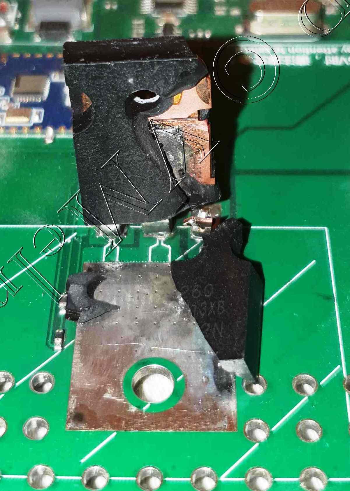 Взорванный транзистор IRFP260 в электронной нагрузке ATORCH DL24