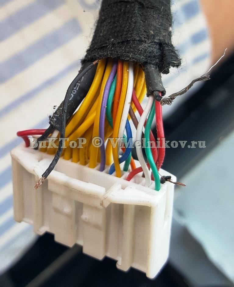 Отвалившиеся провода от ГУ до дисплея