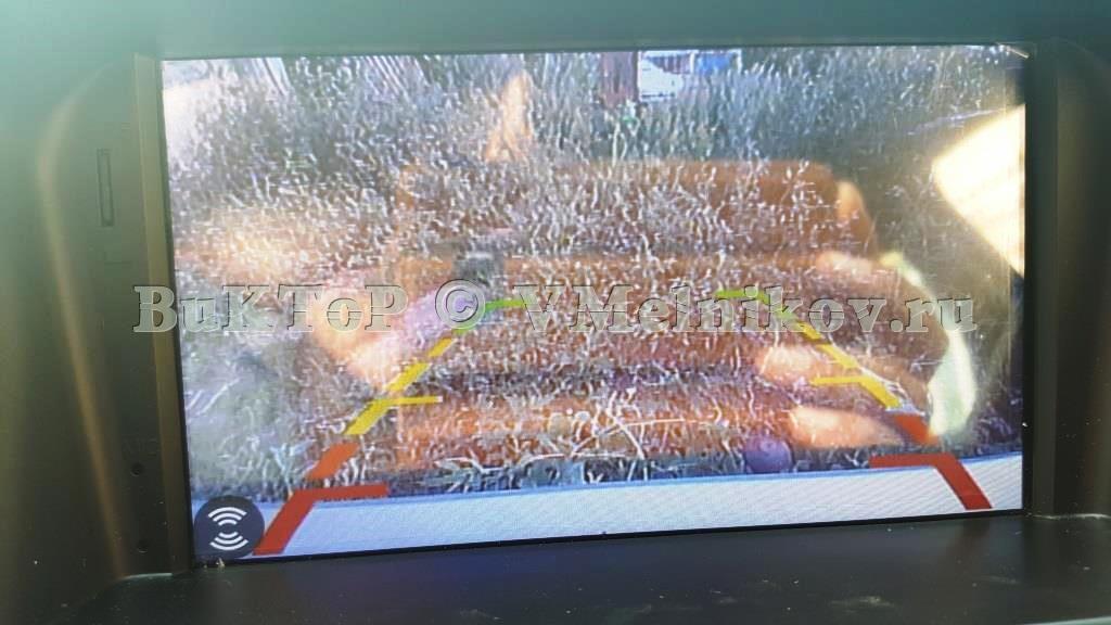Так работает камера заднего вида на ГУ Шевроле круз 2009-2012
