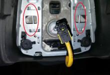 Снятие, замена подушки безопасности водителя Шевроле Круз