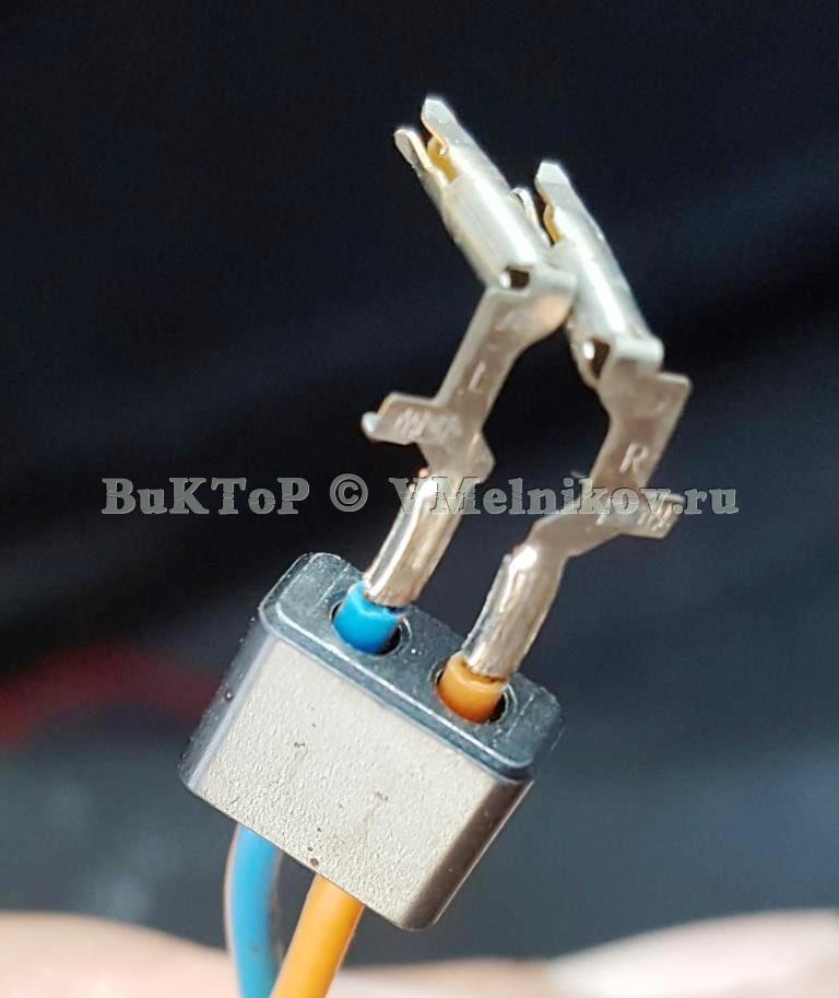 Разобранный коннектор подушки безопасности Шевроле Круз