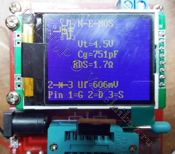 Измеренные характеристики китайских транзисторов IRF530N